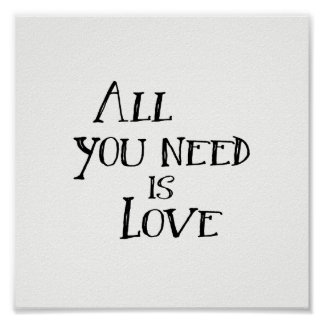 All You Need is Love Poster