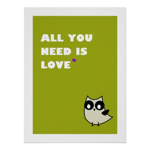 all you need is love - poster (green)
