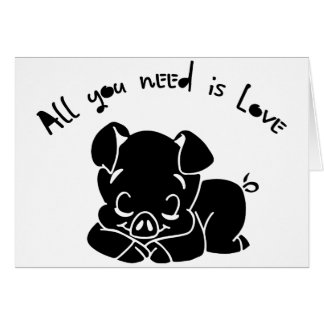 All you need is love, quote card