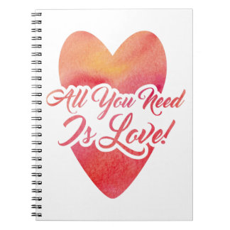 all-you-need-is-love spiral notebook