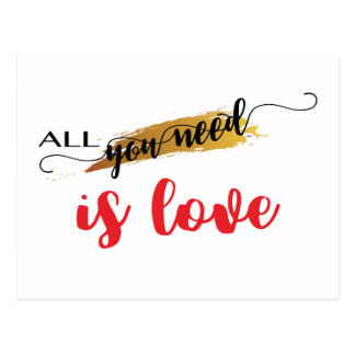 All-you-need-is-Love Valentine Postcard