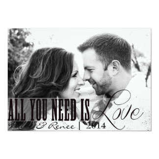All you need is LOVE wedding announcement