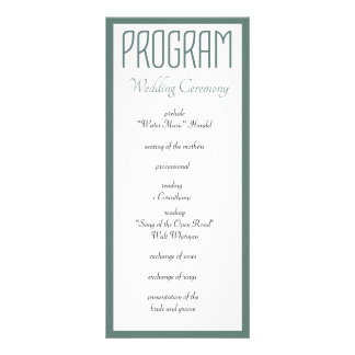 All You Need is Love Wedding Program Personalised Rack Card