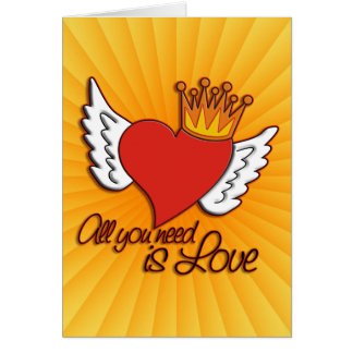All You Need Is Love | yellow shine Card