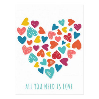 all you need IS love You only needs love Postcard