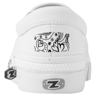 All You Need is Love Zipz Slipon Printed Shoes