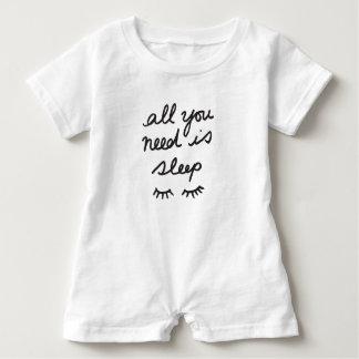 All You Need Is Sleep Baby Romper Baby Bodysuit