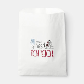 All you need is Tango quote Favour Bags