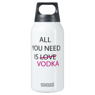 all you need is vodka.ai insulated water bottle