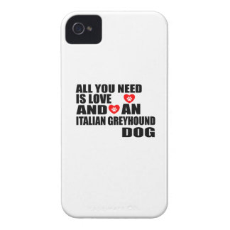 All You Need Love ITALIAN GREYHOUND Dogs Designs iPhone 4 Case