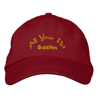 All your pet supplies embroidered hat