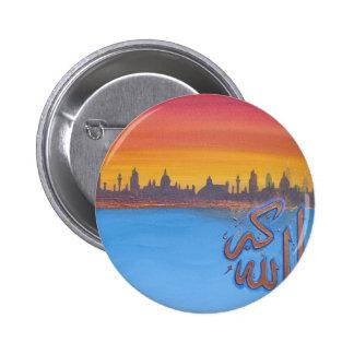 'Allah Akbar' sunset image 6 Cm Round Badge