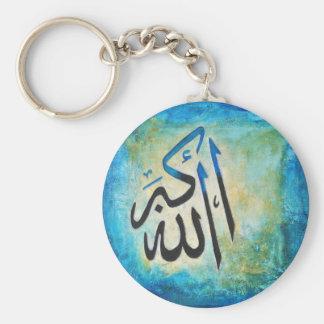 Allah-u-Akbar Basic Round Button Key Ring