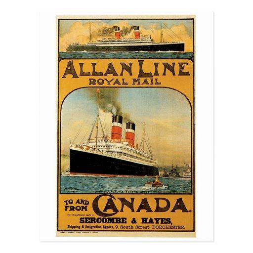 Allan Line Post Cards