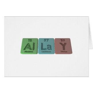 Allay-Al-La-Y-Aluminium-Lanthanum-Yttrium Card