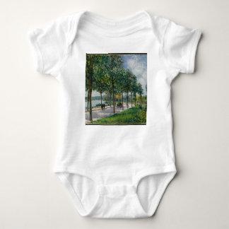 Allée of Chestnut Trees - Alfred Sisley Baby Bodysuit