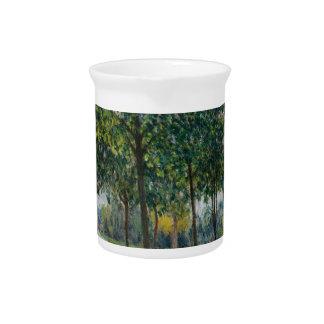 Allée of Chestnut Trees - Alfred Sisley Beverage Pitchers