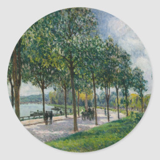 Allée of Chestnut Trees - Alfred Sisley Classic Round Sticker