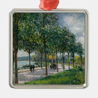 Allée of Chestnut Trees - Alfred Sisley Metal Ornament