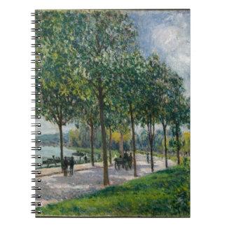 Allée of Chestnut Trees - Alfred Sisley Notebooks