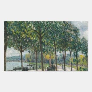 Allée of Chestnut Trees - Alfred Sisley Rectangular Sticker
