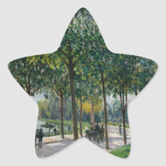 Allée of Chestnut Trees - Alfred Sisley Star Sticker