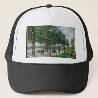 Allée of Chestnut Trees - Alfred Sisley Trucker Hat