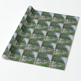 Allée of Chestnut Trees - Alfred Sisley Wrapping Paper