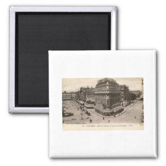 Allees de Tourny, Bordeaux, France Vintage Square Magnet