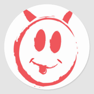 Alleged_smiley_killer_symbol Round Sticker