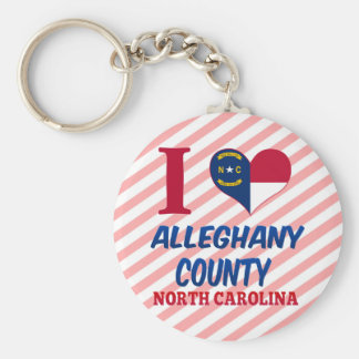 Alleghany County, North Carolina Basic Round Button Key Ring