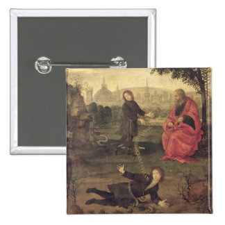 Allegory, c.1485-90 (oil on panel) 15 cm square badge