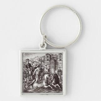 Allegory celebrating key chain