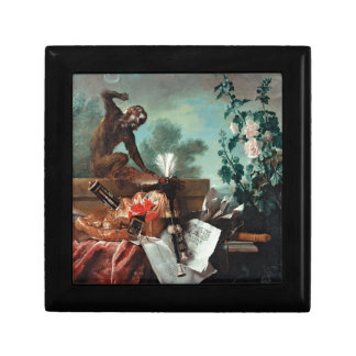 Allegory of Air by Jean-Baptiste Oudry Small Square Gift Box