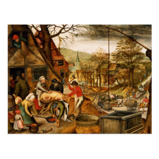 Allegory of Autumn Postcard