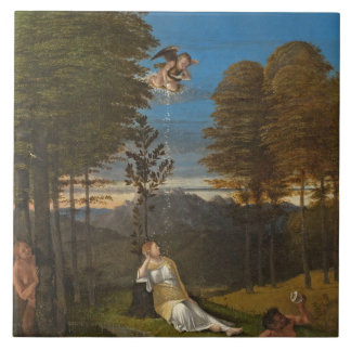 Allegory of Chastity, c. 1505 (oil on panel) Large Square Tile