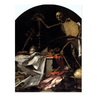 Allegory of Death: In Ictu Oculi by Juan de Valdes Postcard