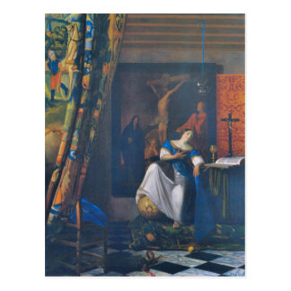 Allegory of Faith by Johannes Vermeer Postcard