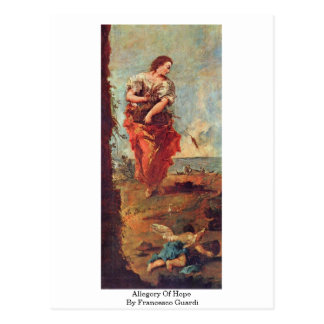 Allegory Of Hope By Francesco Guardi Postcard