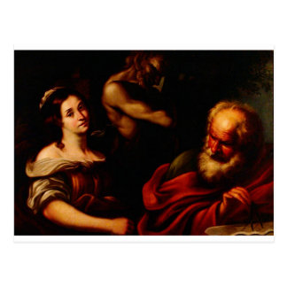 Allegory of Mathematics by Bernardo Strozzi Postcard