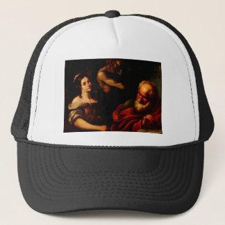 Allegory of Mathematics by Bernardo Strozzi Trucker Hat