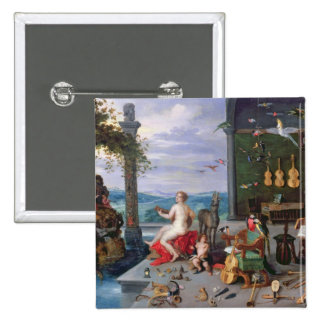 Allegory of Music 15 Cm Square Badge