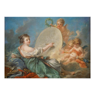 Allegory of Painting, 1765 (oil on canvas) Poster