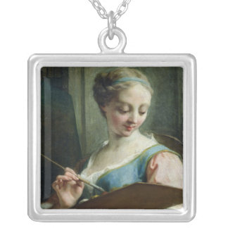 Allegory of Painting Silver Plated Necklace