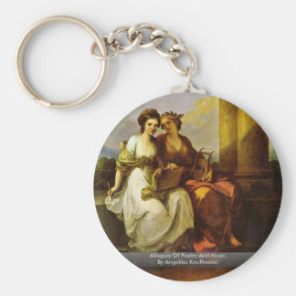 Allegory Of Poetry And Music. By Angelika Kauffman Keychain