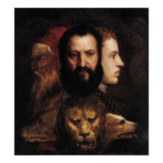 Allegory of Prudence Poster