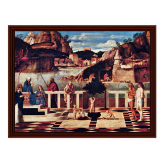 Allegory Of Purgatory By Bellini Giovanni Postcard