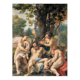 Allegory of the Vices by Correggio Postcard