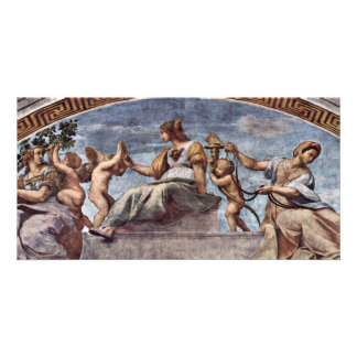 Allegory Of Virtue By Raffael (Best Quality) Photo Card Template