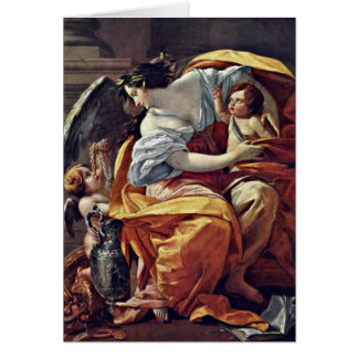 Allegory Of Wealth By Simon Vouet Card